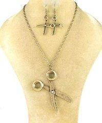 Career Stylist Necklace Set-Gold