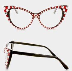 Fashion Crystal Cat Eyeglasses-Delta Sigma Theta Sorority