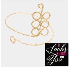 Arm Swirl Cuff Bracelet-Gold