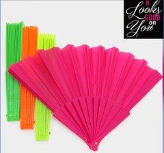 Neon Paper Folding Fans