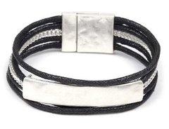 Magnetic Rope/Silver Bracelet