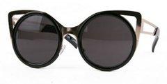 Cat Eye Gold Trim / Black Sunglasses