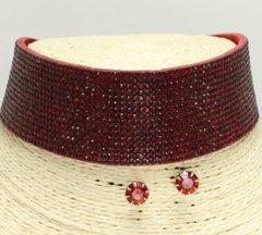 Rhinestone Red Choker Necklace Set