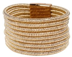 Magnetic Coil Bracelet-Gold