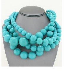 Turquoise Multi Bead Necklace Set