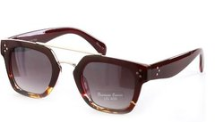 Square Premium Sunglasses-Burgundy