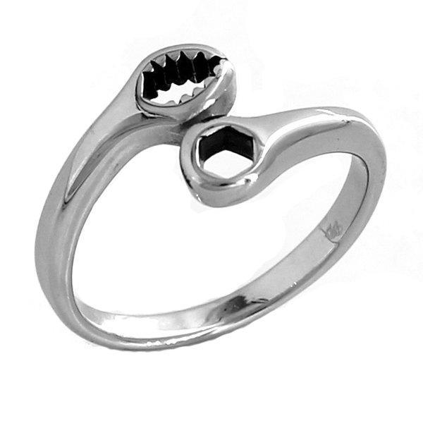 Stainless Steel Small Wrench Ring Debrias Designs Steel Biker