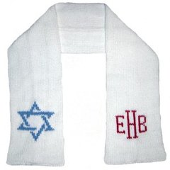 Monogrammed Hannukah Scarf for Children