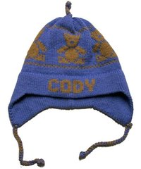 Personalized Teddy Bear Earflap Hat