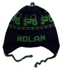 Personalized Tractor Earflap Hat