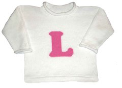 Letterman Initial Pullover for Kids