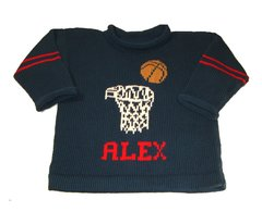 Personalized Basketball Varsity Sweater for Infants and Children