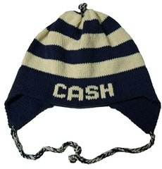 Personalized Striped Earflap Hat