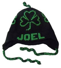 Personalized Shamrock Earflap Hat