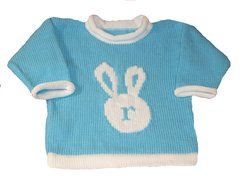 Easter Bunny Initial Pullover for Baby