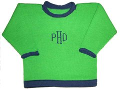 Two Color Monogrammed Pullover