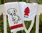 Adorable Puppy Bib and Burp Set for Baby
