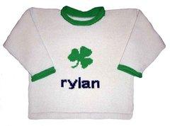St. Patrick's Day Personalized Irish Shamrock Sweater