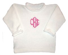 Monogrammed Cotton Pullover Sweater for Children