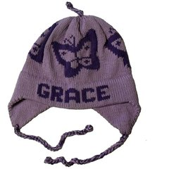 Personalized Butterfly Earflap Hat