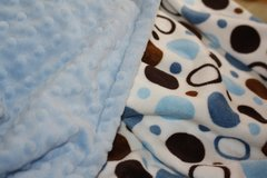Personalized Minky Baby Blanket with Circle and Dots Motif