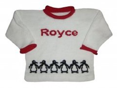 Holiday Penguin Sweater Personalized