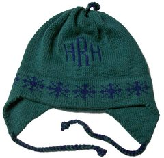 Personalized Snowflake Monogram Earflap Hat