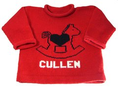 Personalized Rocking Horse Baby Sweater