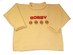 Personalized Name Sweater with Football Sports Motif
