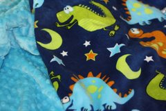Personalized Minky Baby Blanket with Dinosaur Motif
