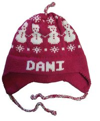 Personalized Snowman Earflap Hat