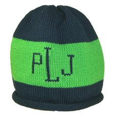 Rugby Striped Roll Hat with Monogram