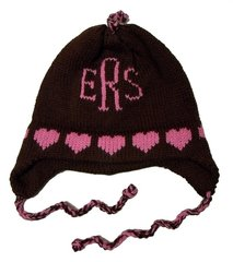 Personalized Heart Monogram Earflap Hat