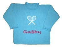 Custom Knit Tennis Sweater for Baby