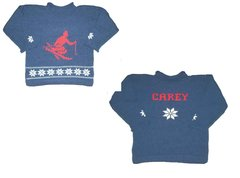"""Let's Hit the Slopes"" Personalized Ski Sweater for Children"