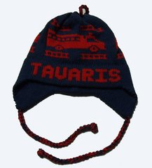 Personalized Fire Truck Earflap Hat
