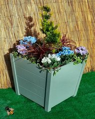 Square Hard wood Garden Planter Patio Green Colour