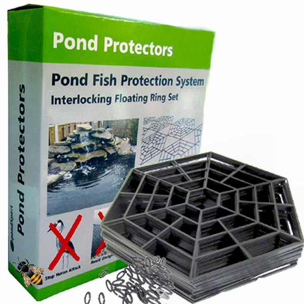Pond protector floating cover net water fish guard for Fish pond protection