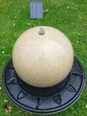 Water Feature Fountain Ball Solar LED Light Outdoor Garden Ornament Patio Sphere