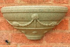 Garden Wall Planter Fence Trellis Patio Tub Basket Sandstone Colour