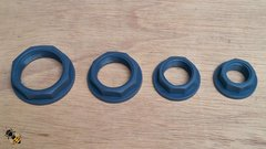"""BSP Nuts Flanged 1/2"""" to 1 1/4"""" Thread Plastic PP Pond Hose Pipe"""