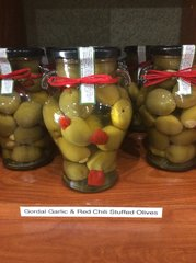 Gordal Garlic & Red Chili Stuffed Olives (20oz)