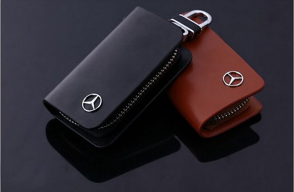 Mercedes benz leather key chain holder bobby crew for Mercedes benz chain