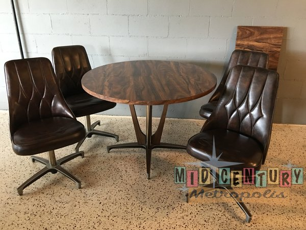 chromcraft dining room furniture. SOLD  Mid Century Modern Atomic Chromcraft Dining Set with 4 chairs Table and Leaf