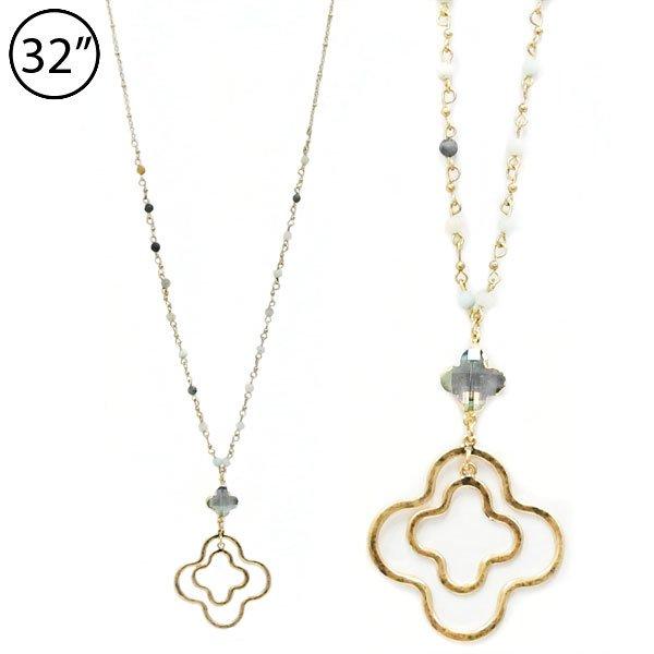 The mylinda renay fashion accessory boutique found inside mylinda quatrefoil pendant necklace3 colors aloadofball Choice Image
