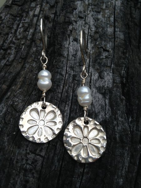 Fine Silver Freshwater Pearl Earrings Made to Order