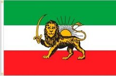IRAN PERSIAN LION OLD LARGE 3' X 5' FEET COUNTRY FLAG BANNER .. NEW AND IN A PACKAGE