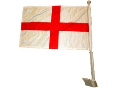 """ENGLAND 12"""" X 18"""" INCHES COUNTRY HEAVY DUTY WITH STICK CAR FLAG .. NEW AND IN A PACKAGE"""