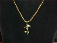 14K Gold Kokpelli Necklace