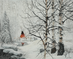 """""""Red Lodge"""" - 16x20 by Julie Kramer Cole, Limited Edition Giclee on Paper"""